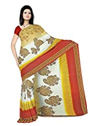 Anand Sarees Faux Georgette Synthetic Print Saree - B013X04964