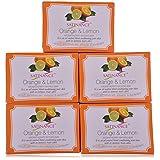 Satinance Orange & Lemon Bathing Bar 75Gm - (Pack Of 5)
