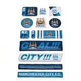 Manchester City Unisex Fun Bubble Sticker Set, Multi-Colour