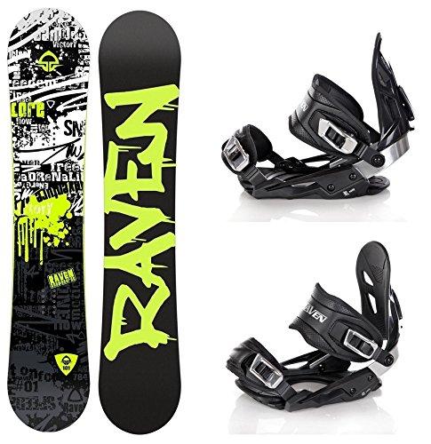 Snowboard Set: Snowboard Raven Core Rocker 2016 + Bindung Raven s400 Black M/L