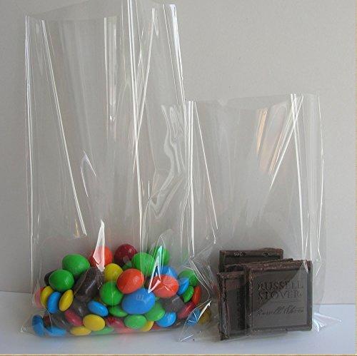 100x Clear Flat Cellophane Treat Bag 4x6 inch