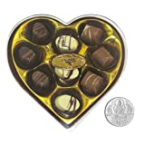 Chocholik Belgium Gifts - Heartfelt Chocolates With Lovely Box With 5gm Pure Silver Coin - Diwali Gifts