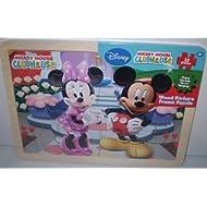 Cardinal Assortment Of Car Mickey And Disney Princess Frame Puzzle (12 Pieces)