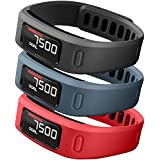 SKYLET Garmin Vivofit Replacement Bands With Metal Clasp 2 Secure Silicon Fastener Rings For Free No Tracker Black... - B01GG4SE7E