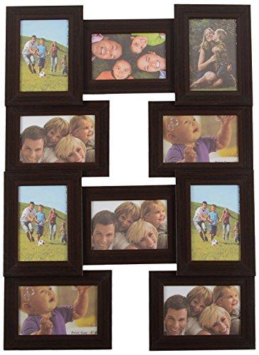 Navkar Enterprise Wooden Photo Frame (10 Set Of Frame, Brown)