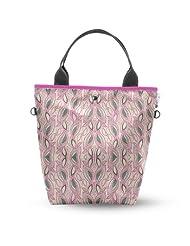 Atrangee Pink Leaf Stalk Tall Tote Bag (Pink & Pink)