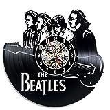 The Beatles Art Wanduhr Vinyl Wand Zimmer Geschenk modern Home Registrierung Dekoration Vintage
