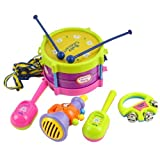 5pcs Roll Drum Musical Instruments Band Kids Toy Gift Set [Toy]