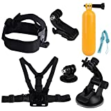 Quimat MH03 Sports Camera Accessory Bundle Kits For Gopro Hero ANATR Sports Camera - Head Strap Chest Belt Folating...
