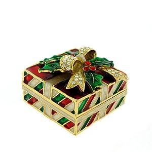 Amazon.com: Christmas Box Swarovski Crystals Red Green