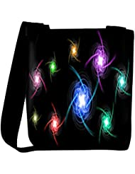 Snoogg Abstract Colorful Design Designer Womens Carry Around Cross Body Tote Handbag Sling Bags