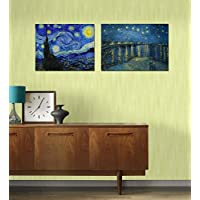 Tallenge Poster Set - Vincent Van Gogh - Starry Night And Starry Night Over The Rhone - Set Of 2 Unframed A3 Size...