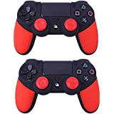 Generic 2 Pcs Soft Anti-Slip Silicone Rubber Skin Case Cover For Sony PlayStation Dualshock 4 PS4 Pro Slim Controller... - B06XFMR6KC