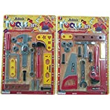 Kids Tool Set Toy 2-in-1 Fixer Man Tools For Children's Realistic Pretend Play Game Of Fixing Fun (Colors May...