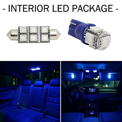 Partsam 2004-2014 Ford F-150 Blue Interior LED Lights Package Kit