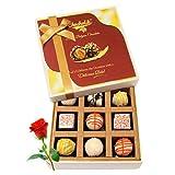Enjoyable Combination Of White Chocolates With Red Rose - Chocholik Luxury Chocolates