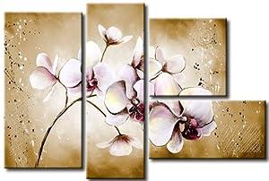 XXL FORMAT + Bild auf LEINWAND + 4 teilig + Orchideen