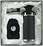 Flambiergerät Coney in schöner Geschenkverpackung mit Samteinlage - Creme Brulee Flambierer - Flambierbrenner - Brenner -