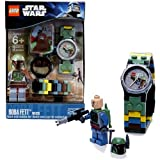Lego Year 2011 Star Wars Series Watch With Minifigure Set #9003370 - BOBA FETT Watch Plus Boba Fett Minifigure...