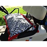 Prettiful Covers Black & White Damask : Golf Cart Seat Cover