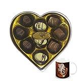 Chocholik Belgium Gifts - Heartfelt Chocolates With Lovely Box & Diwali Special Coffee Mug - Diwali Gifts