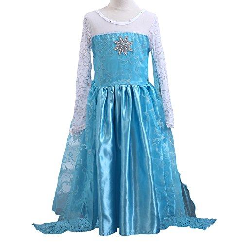 9e0ea7c88 MissFox Traje Princesa Anna Frozen Vestido Para Niña 110CM Largo. MissFox  Disfraz Elsa Frozen Disfraces De Princesas Niña 150CM Como Cuadro