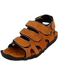 Rick Rock Men's Tan Synthetic Sandals - B015Q57N44