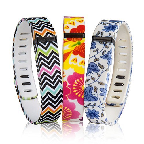 """Newest """"KEEP FIT"""" Replacement Bands Set For Fitbit Flex Tracker Only, Bracelet/ Arm Band/ Wristband With Clasps..."""