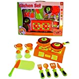Dazzling Toys Pretend & Play Young Chef 15 Pc Cooking Ware Kitchen Set