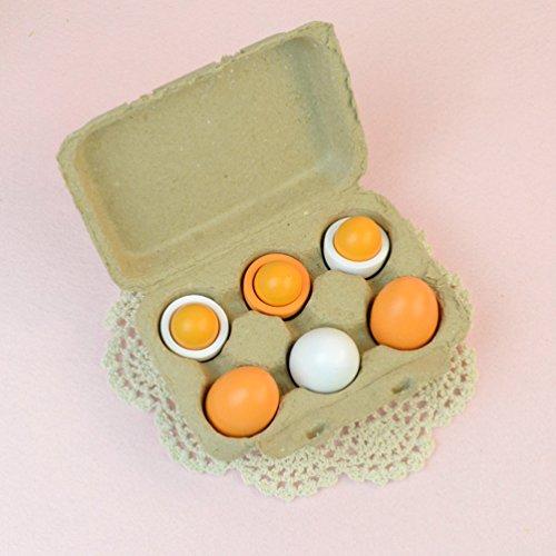 6pcs Wooden Eggs