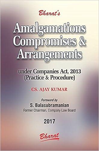 Amalgamations ,Compromises & Arrangements -Practice - 2017