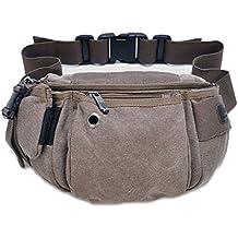 Tonwhar Multi-purpose Waist Bag Fanny Pack Chest Pack (Coffee)