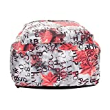 BB Gossip Girl's Colorful Maple Letter Print Casual Canvas Backpack Schoolbag Coral
