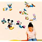 Oren Empower Very Cute Playing Famous Cartoon Characters Wall Stickers For Kids (Finished Size On Wall - 65(w) X 110(h) Cm) - A1B0C30