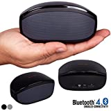Alpatronix AX400 Curved Edition Ultra-Portable Wireless Bluetooth 4.0 Stereo Speaker with Mic, Subwoofer, Volume & Playback Controls - Space Black