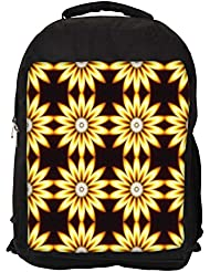"""Snoogg Yellow Sunflower Casual Laptop Backpak Fits All 15 - 15.6"""" Inch Laptops - B01C8JCYUE"""