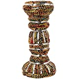 Ved Indian Heritage Fiber Candle Stand (25 Cm X 15 Cm X 04 Cm, Maroon & Green) - B01AHHTAPQ