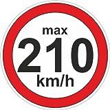Amazon.de: 100 Stück Geschwindigkeitsaufkleber 190 km/h