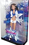 Barbie Pink Label Collector Series 12 Inch Doll - America's Sweethearts Dallas Cowboys Cheerleaders Doll with Shirt, Vest, Shorts, Boots, Earrings, Poms, Doll Stand and Certificate of Authenticity (Brunette - M2318)
