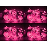 ASCENSION Set Of 6 Rice Lights Serial Bulbs Decoration Lighting For Diwali Christmas (Pink)