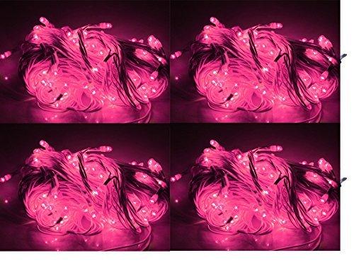 ASCENSION Set Of 6 Rice Lights Serial Bulbs Decoration Lighting For Diwali Christmas (Pink)