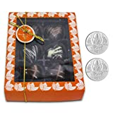 Chocholik Belgium Chocolate Gifts - Attractive Treat Of Chocolate Hearts With 5gm X 2 Pure Silver Coins - Diwali...