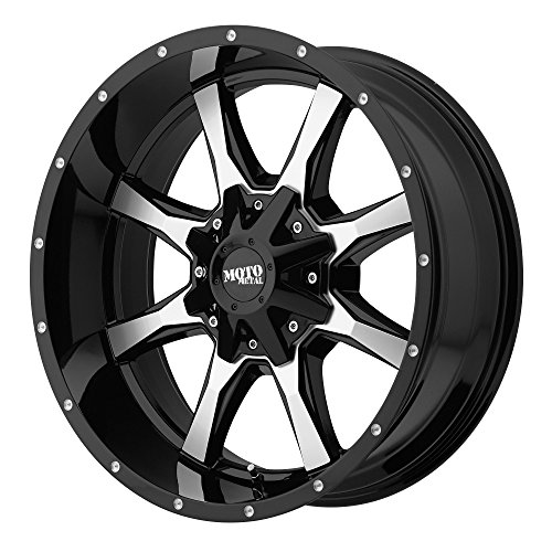 Moto Metal MO970 Gloss Black Wheel Machined With Milled Accents (17×8″/6×135,139.7mm, 00mm offset)