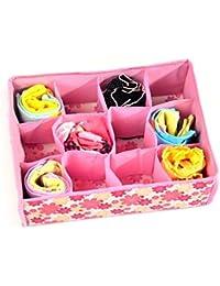 All In One New Foldable Bra Storage Box / Tie Organiser / Cloth Storage Box / Organiser By Stvin