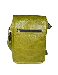 Adimani Sling Bag/ Messenger Bag Green Genuine Leather Bag For Men/Women
