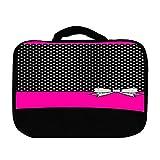 > > Decal Sticker < < Cute Ribbon Black & White Dots Pink Design Print Image Wii U Pro Controller Vinyl Decal...