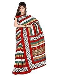 Samskruti Sarees Women Bhagalpuri Exclusive Striped Printed Saree (8662)