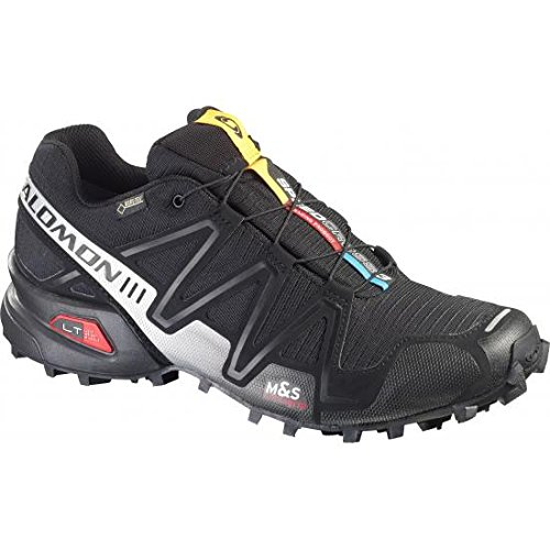 Salomon Speedcross 3 Gtx - Zapatos para hombre, color negro, talla 44 2/3