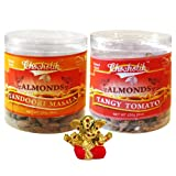 Chocholik Dry Fruits - Almonds Tandoori Masala And Tangy Tomato With Small Ganesha Idol - Diwali Gifts - 2 Combo...