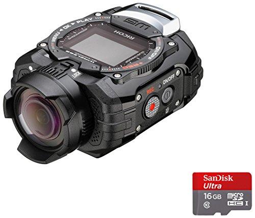 Ricoh WG-M1 - Videocámara con soporte ahdesivo (14 Mp, pantalla de 1.5